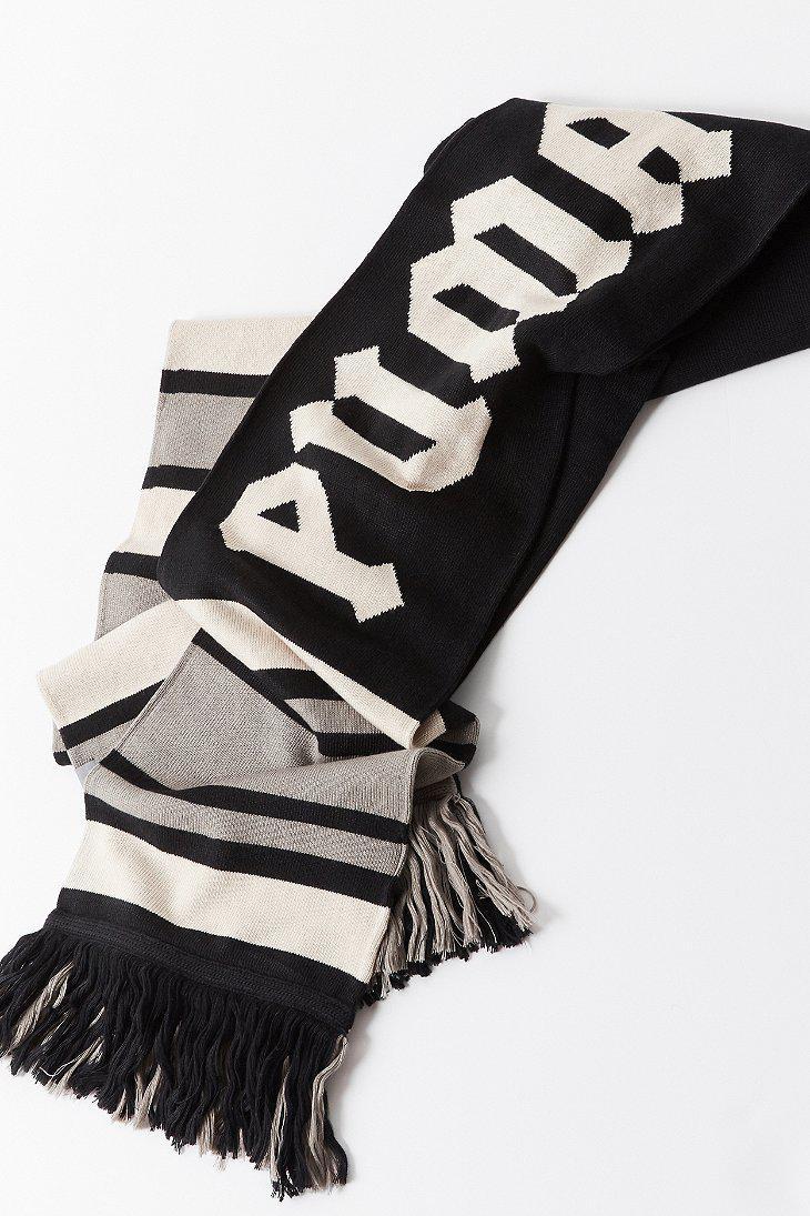 2621b24cb93f0 Lyst - PUMA Puma Fenty By Rihanna Long Varsity Scarf in Black