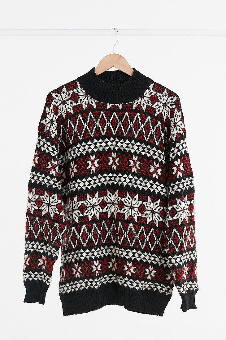 Urban outfitters Vintage Black Multi Fair Isle Ski Sweater in ...