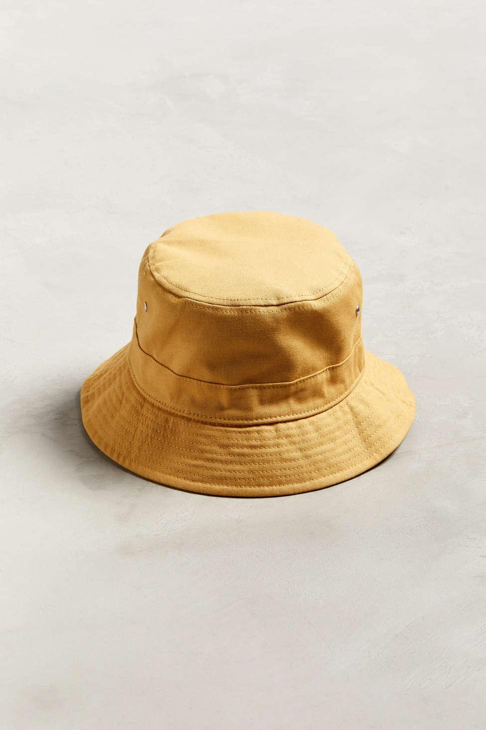 4bbe38dcc8b0b Lyst - Urban Outfitters Uo Canvas Bucket Hat in Metallic for Men
