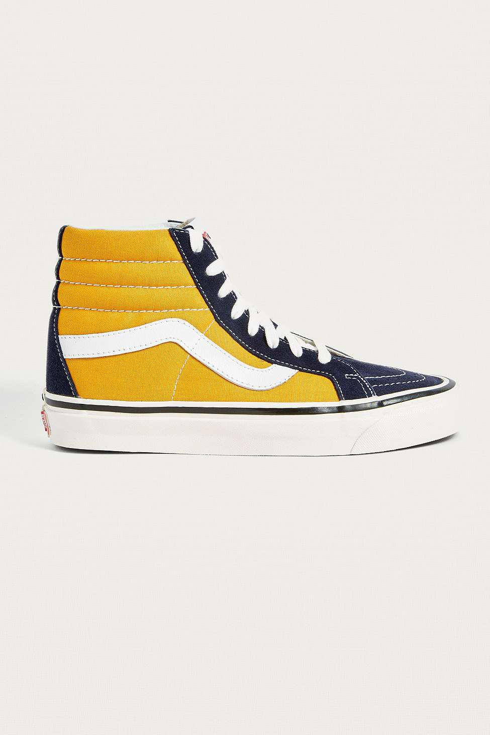 9a77c897fde Vans Sk8-hi Anaheim Factory 38 Dx Navy And Yellow Trainers - Womens ...