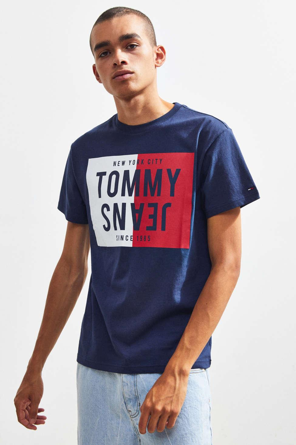 114dea02 Tommy Jeans 90s Flag Print T Shirt M2 In White - raveitsafe