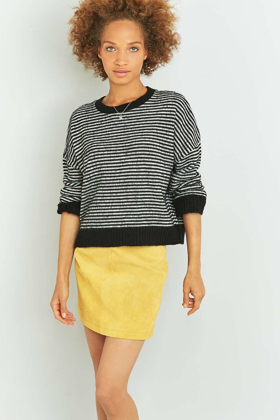 Urban outfitters urban outfitters brushed black striped for Lucky cat shirt urban outfitters