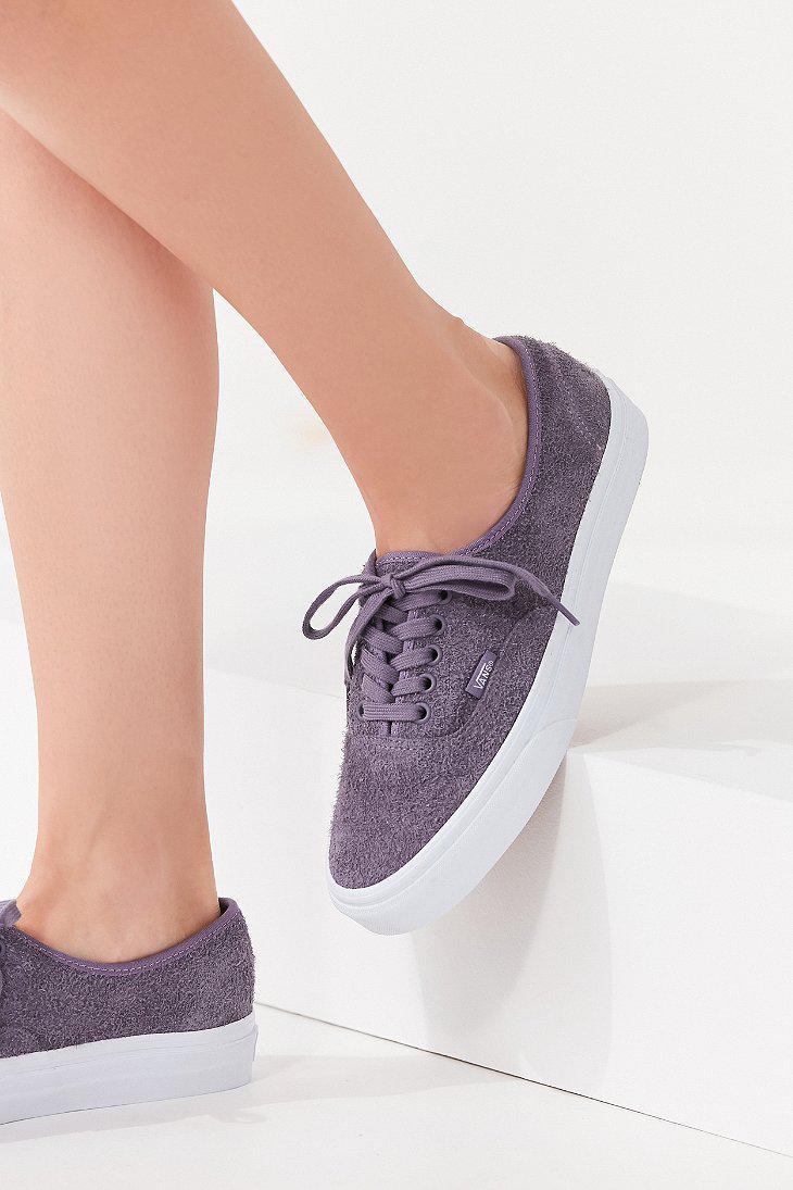 ca0f95d0cd2 Lyst - Vans Vans Hairy Suede Authentic Sneaker in Purple