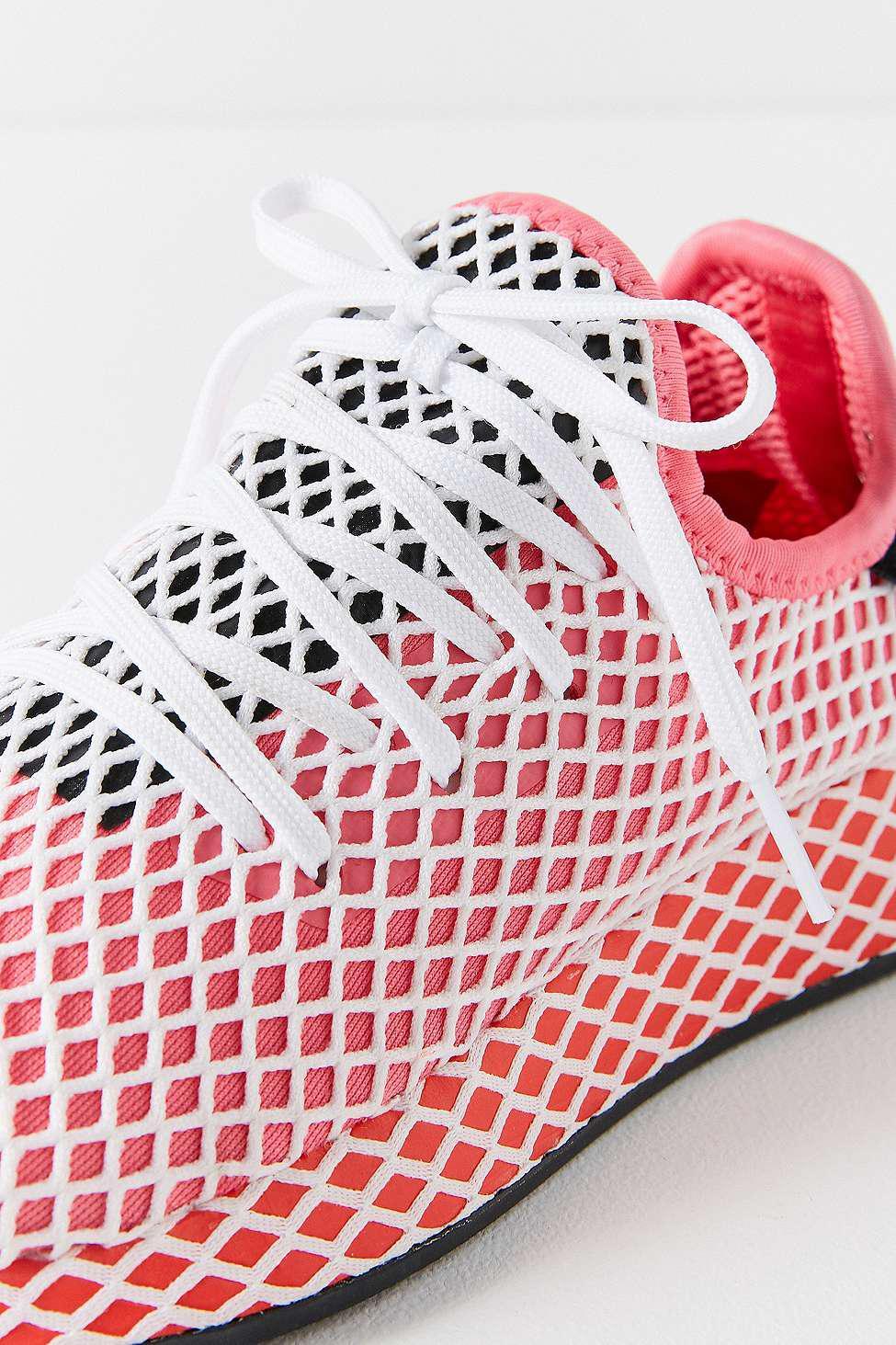 053b684fa1c8c adidas Originals Deerupt Pink And Red Running Trainers - Womens Uk 6 ...