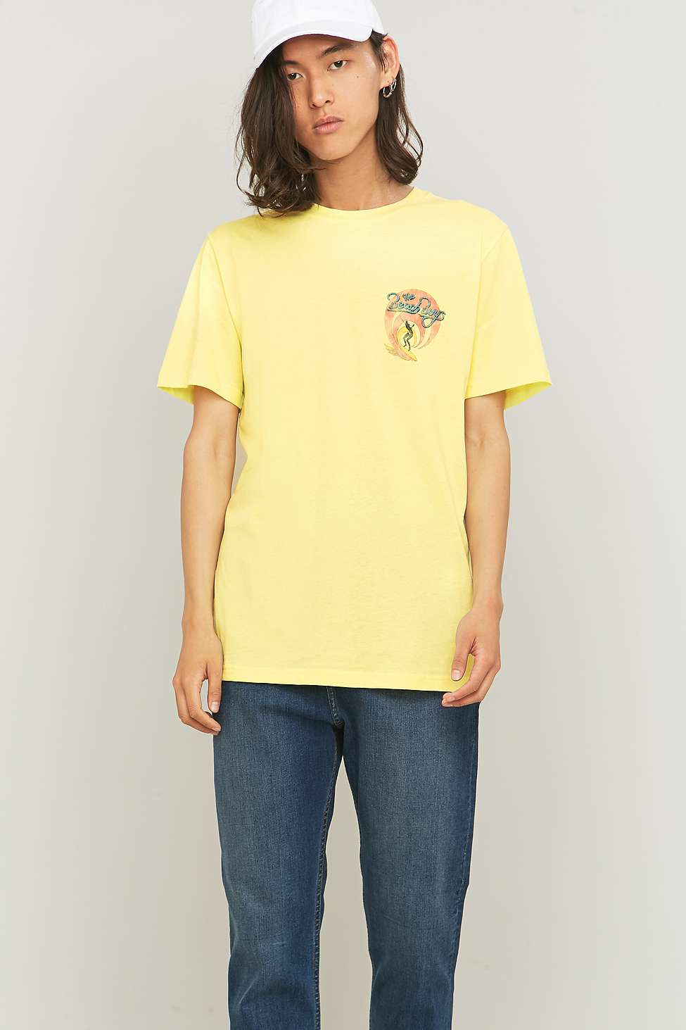 Urban outfitters Beach Boys Yellow T-shirt in Yellow for Men | Lyst