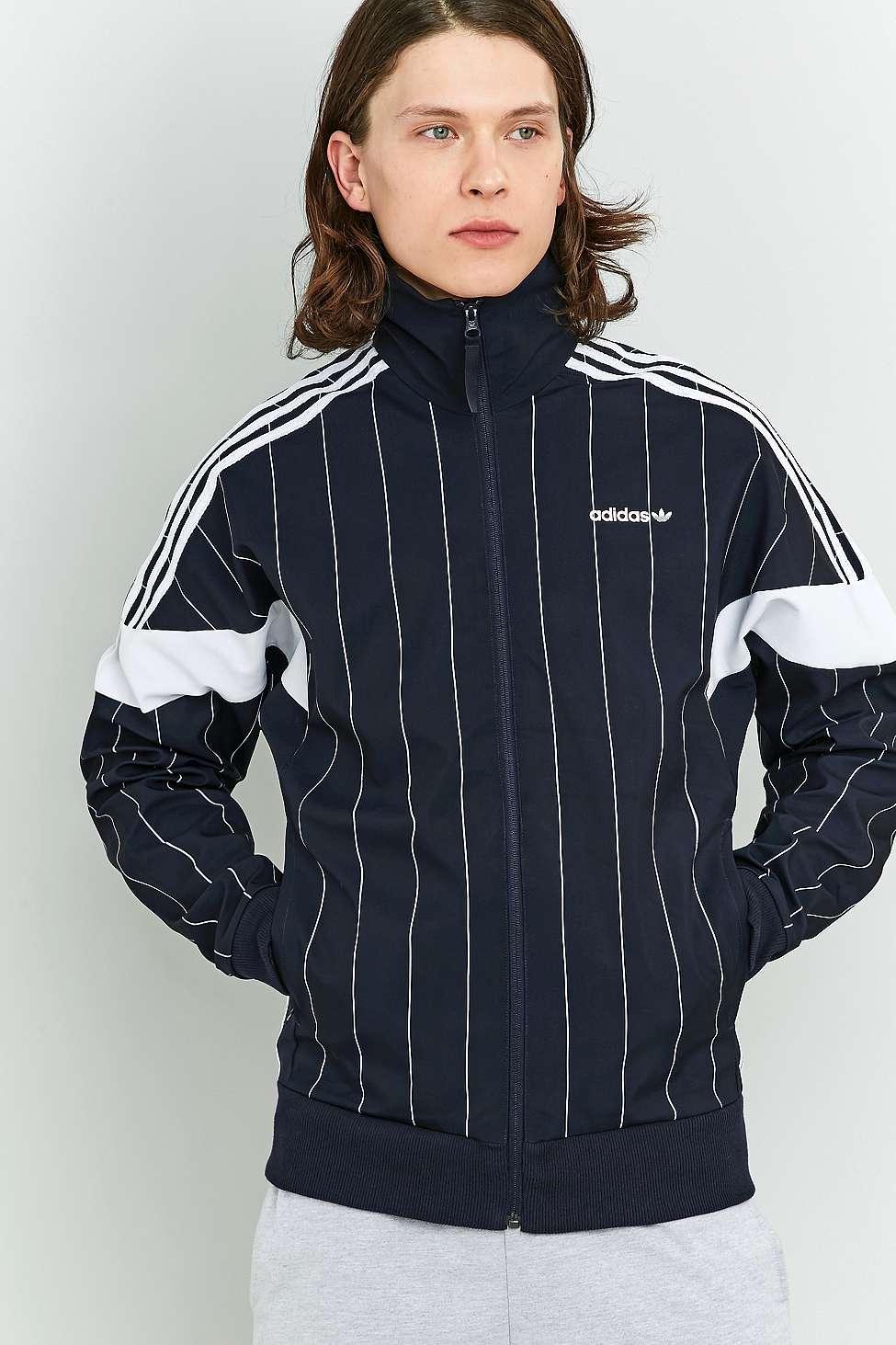 adidas originali tokyo gessato challenger track top in blu