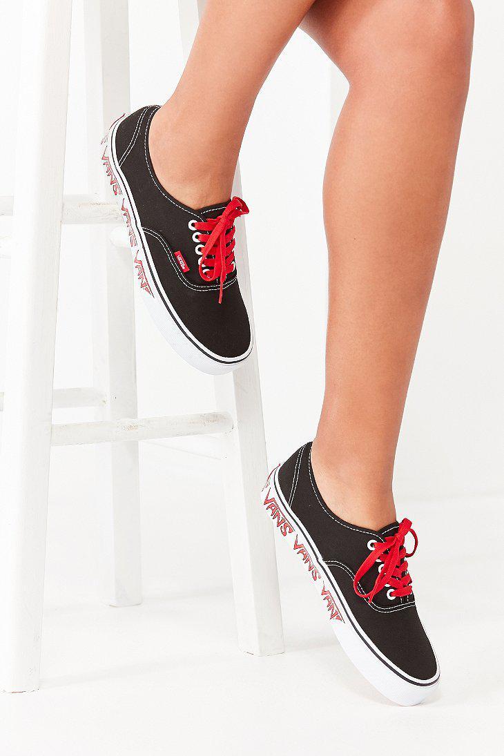 3c82cadf291d3a Lyst - Vans Vans Sketch Sidewall Authentic Sneaker in Black