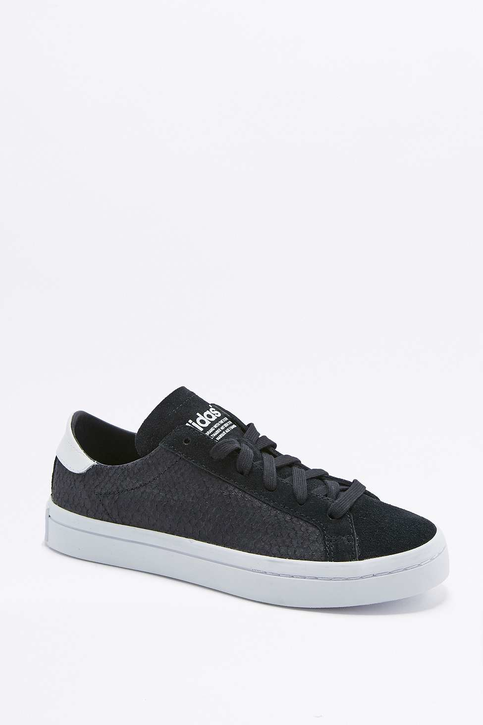 adidas Originals Court Vantage Black Snake Trainers in Black - Lyst 40ef1443c