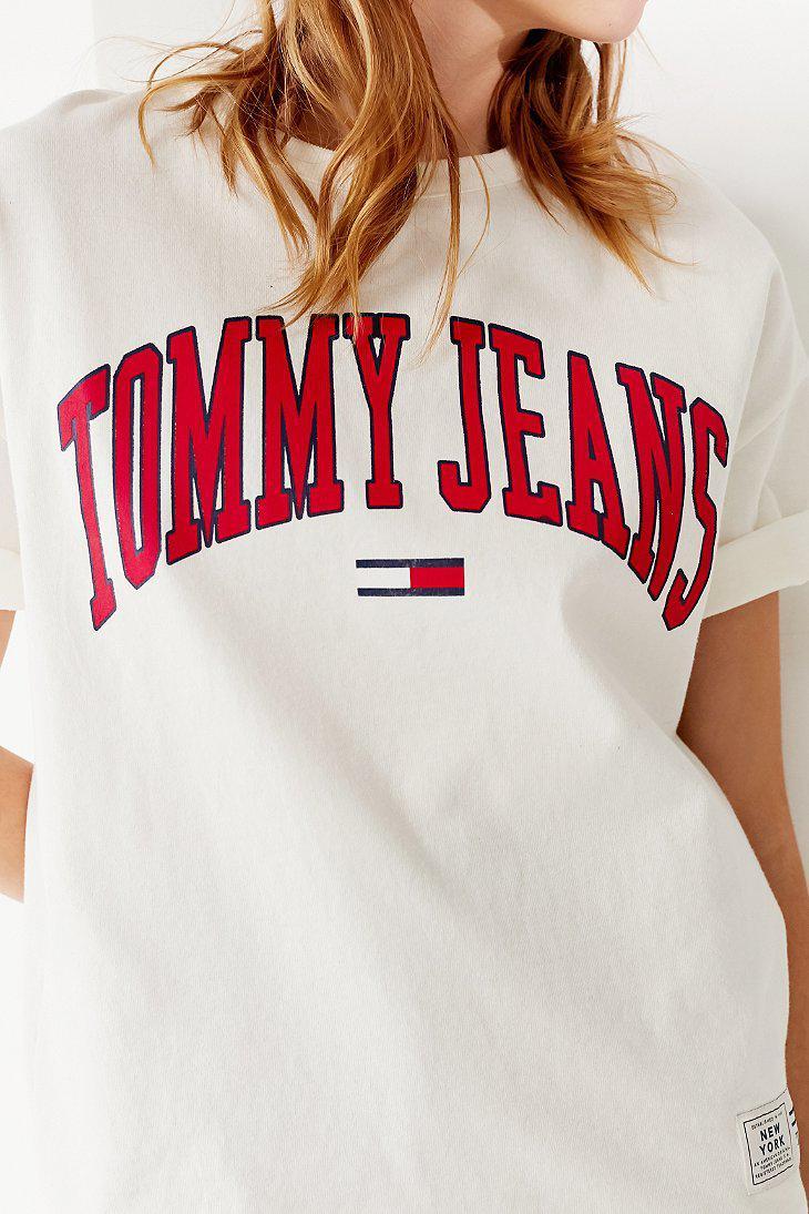 36ed6019 Tommy Hilfiger Tommy Hilfiger Collegiate Crew-neck Tee in White - Lyst