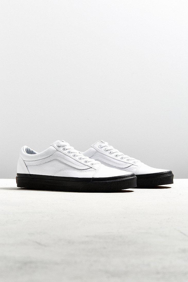 Lyst - Vans Old Skool White Black Sole Sneaker in White for Men b340e05186