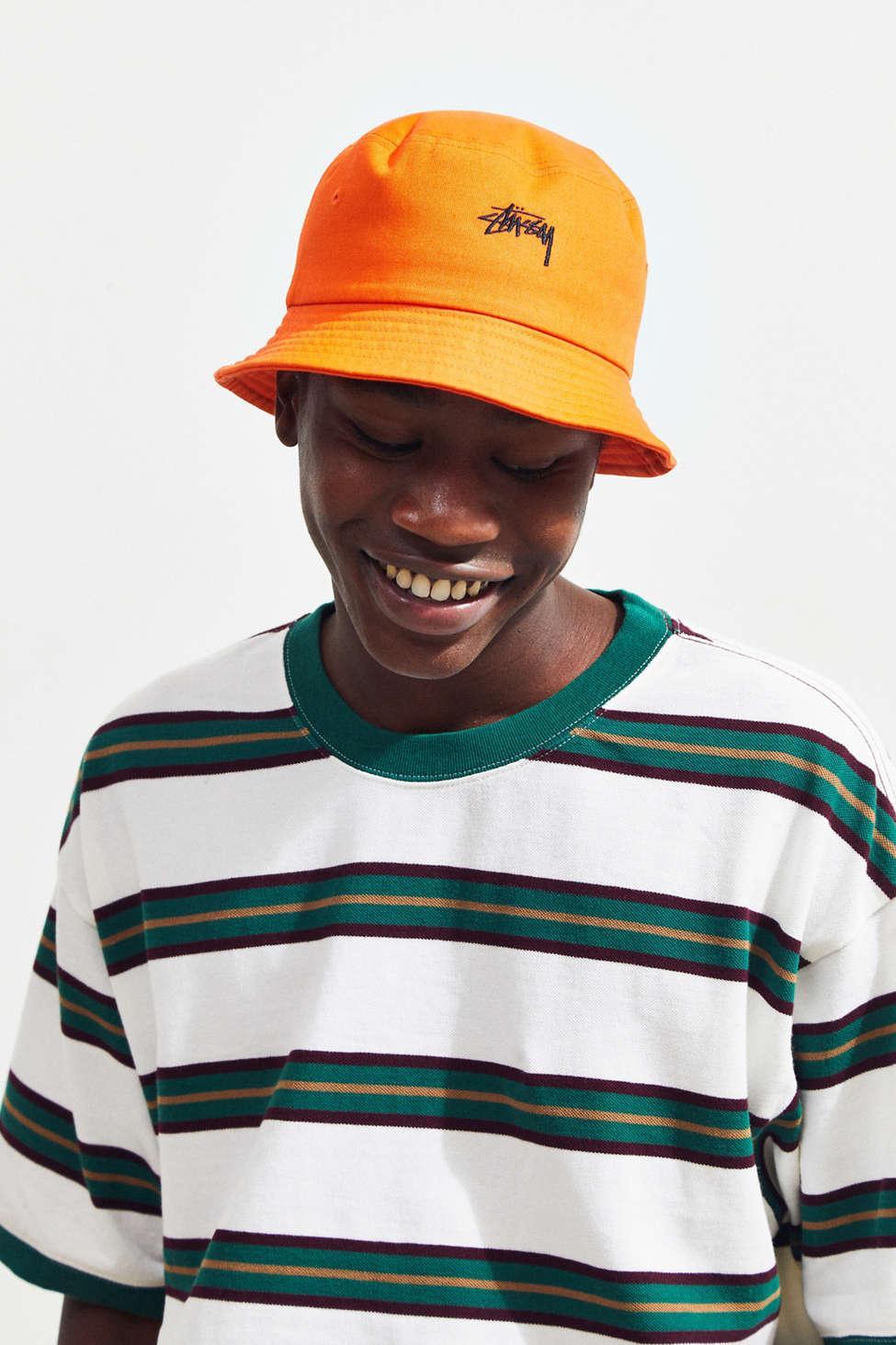 7d6c930c Stussy Stock Bucket Hat in Orange for Men - Lyst