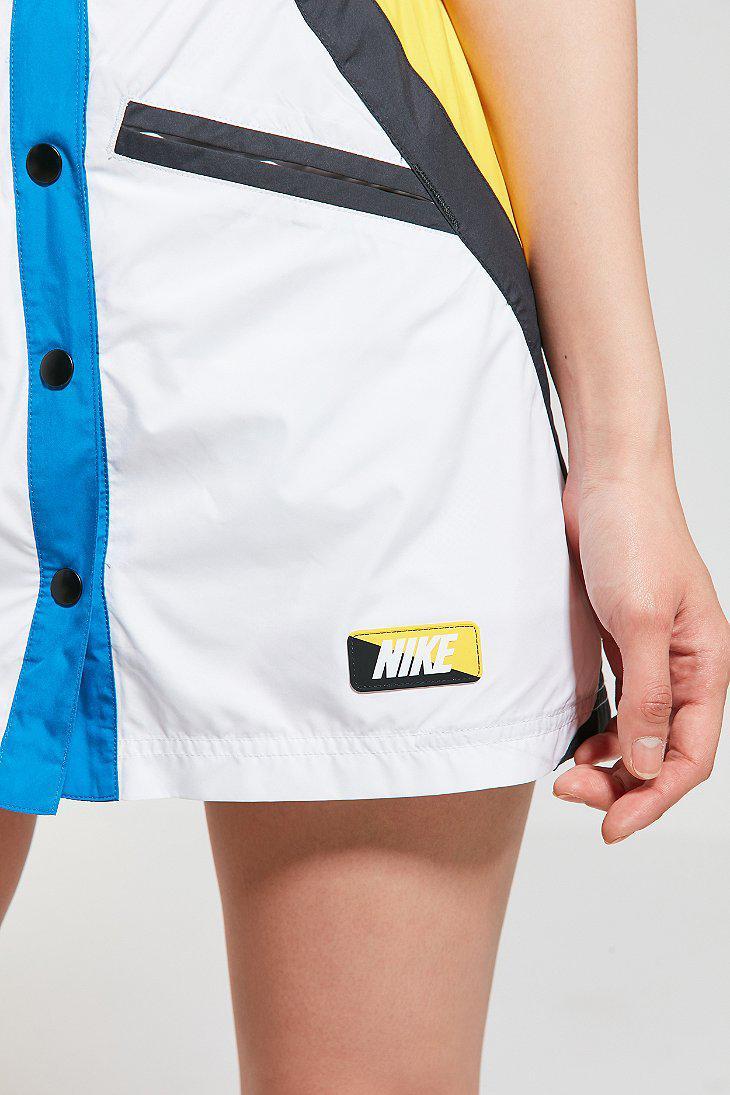 323a9fd39 Nike Nike Moto Mini Skirt in White - Lyst