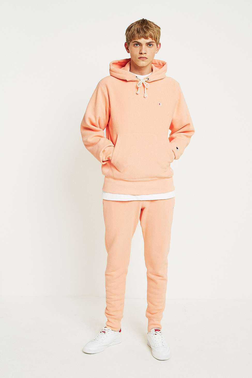 92002835 Champion Peach Reverse Weave Hoodie - Mens M in Pink for Men - Lyst