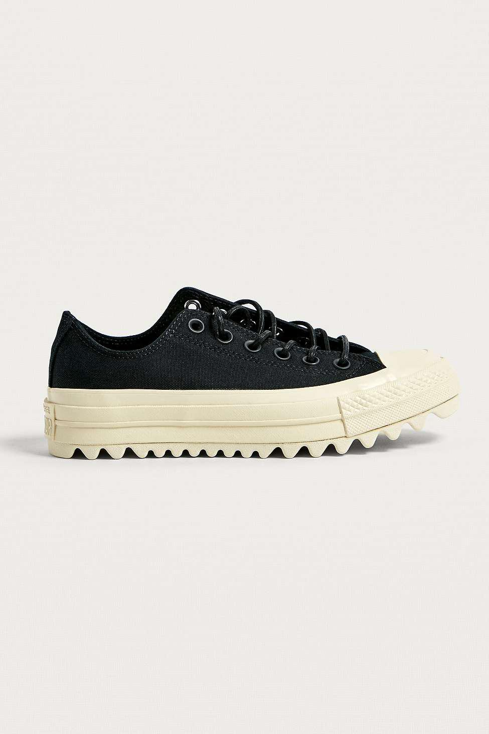 Converse. Women s Chuck Taylor All Star Lift Ripple Black Low Top Trainers 670c1eee5