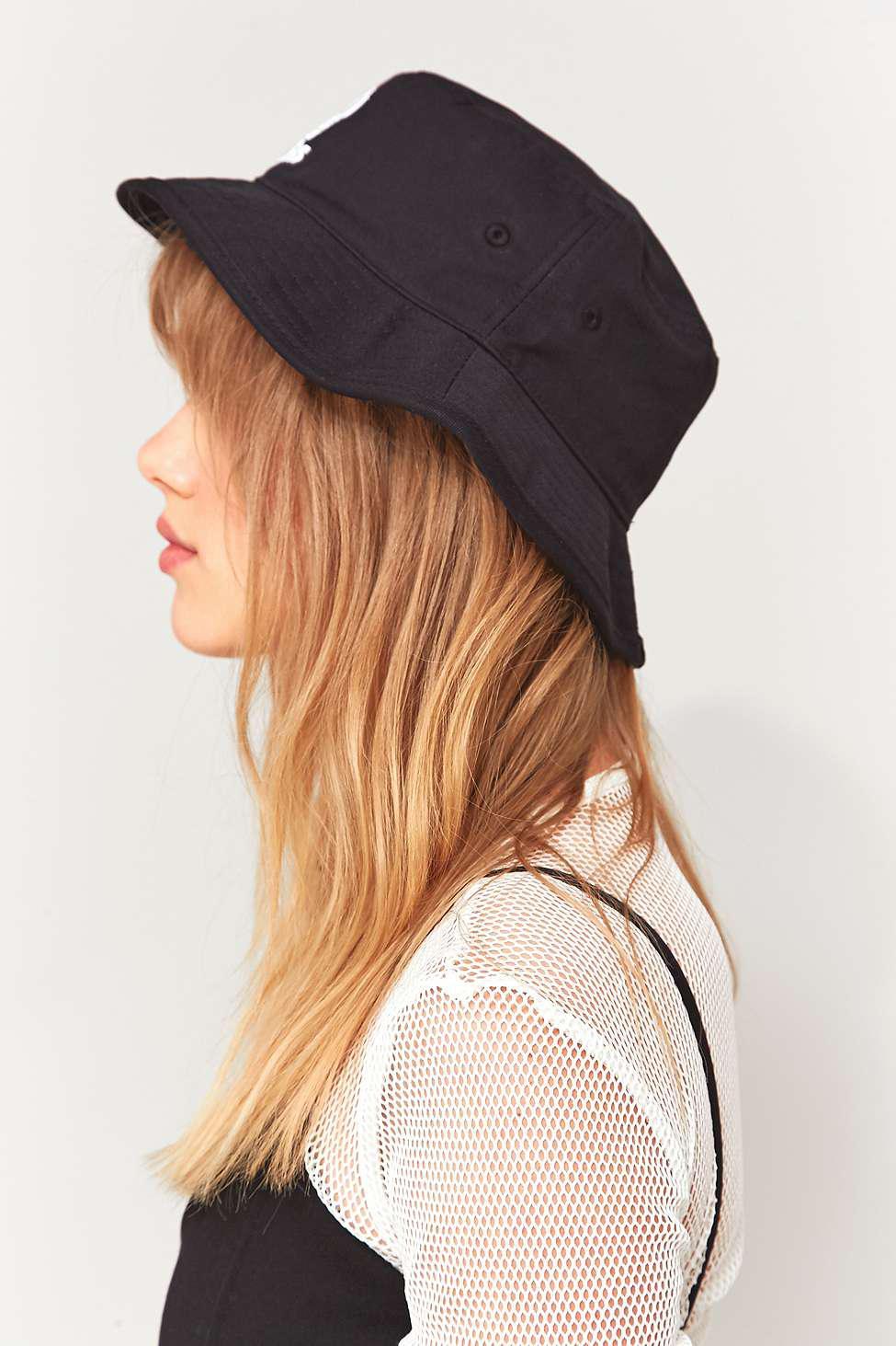 21b6dcdb adidas Originals Trefoil Bucket Hat - Womens All in Black - Lyst