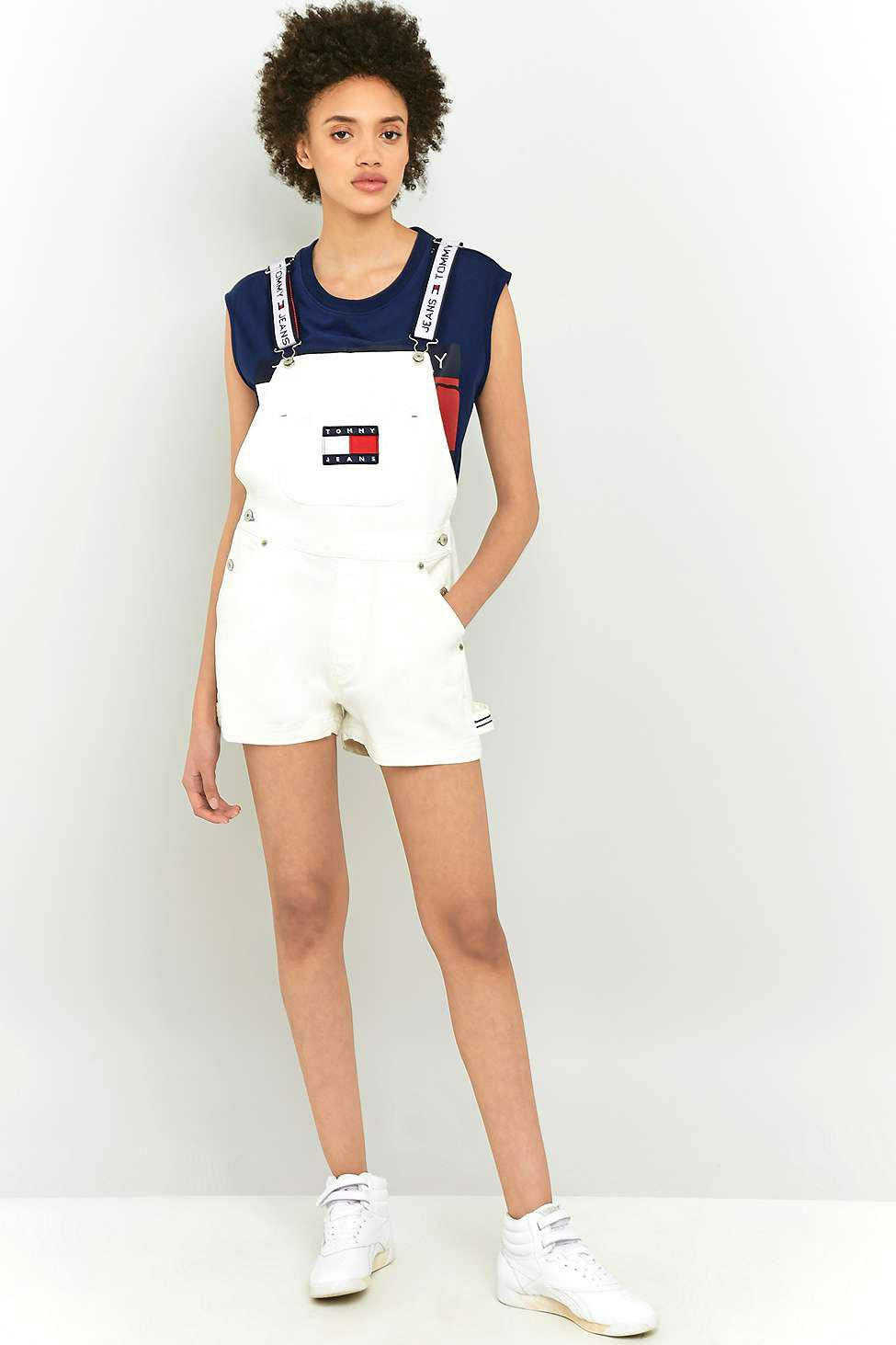 68b6ce38 Tommy Hilfiger '90s White Shorts Dungarees - Womens L in White - Lyst