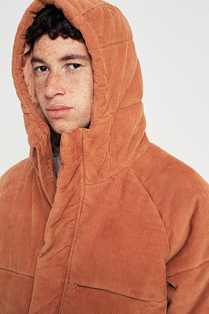 a55690960e5b8 Urban Outfitters Uo Kevin Rust Corduroy Puffer Jacket in Orange for ...