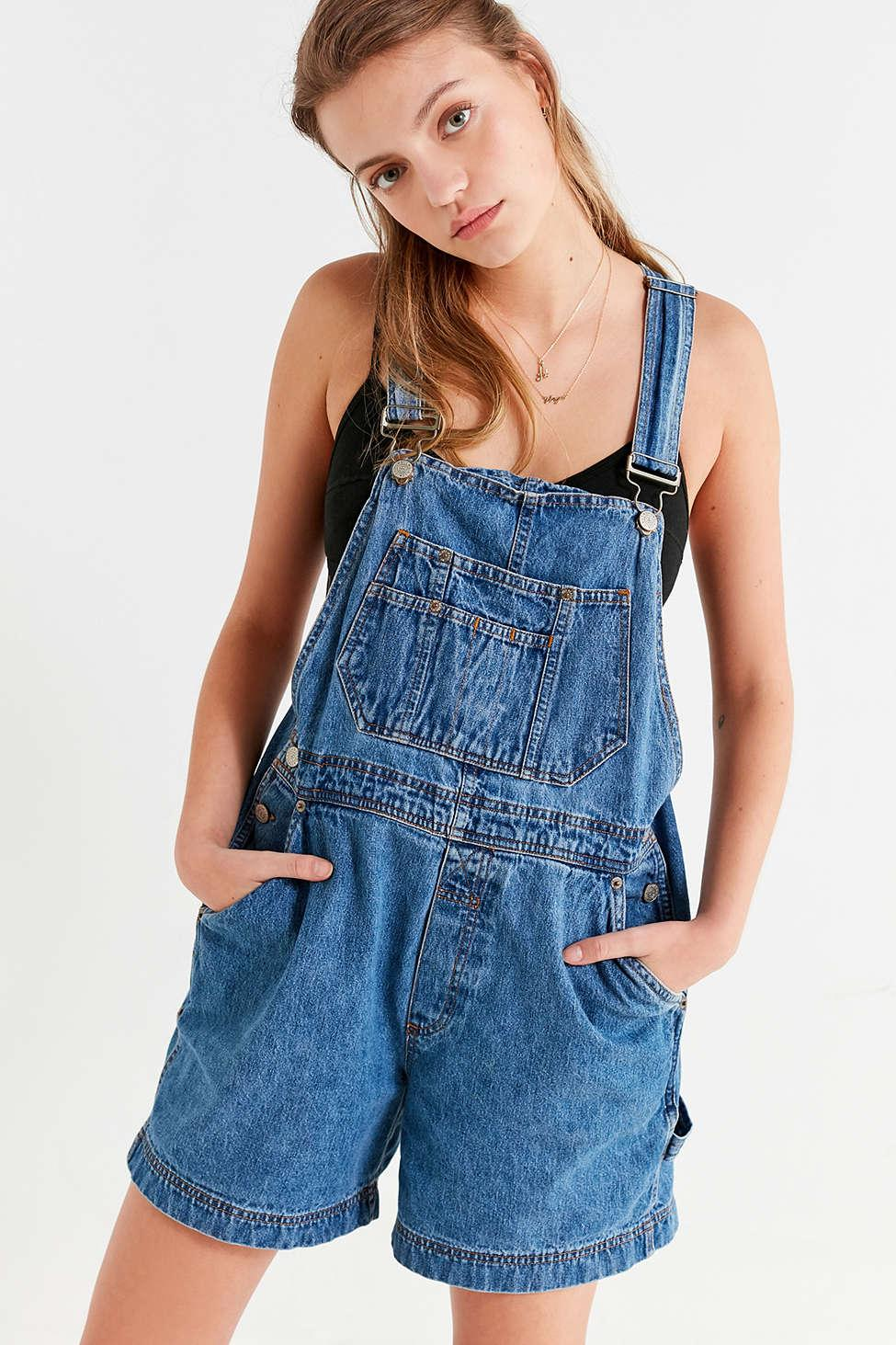 9e8c6cf6b7 Lyst - Urban Renewal Remade  90s Shortall Overall in Blue