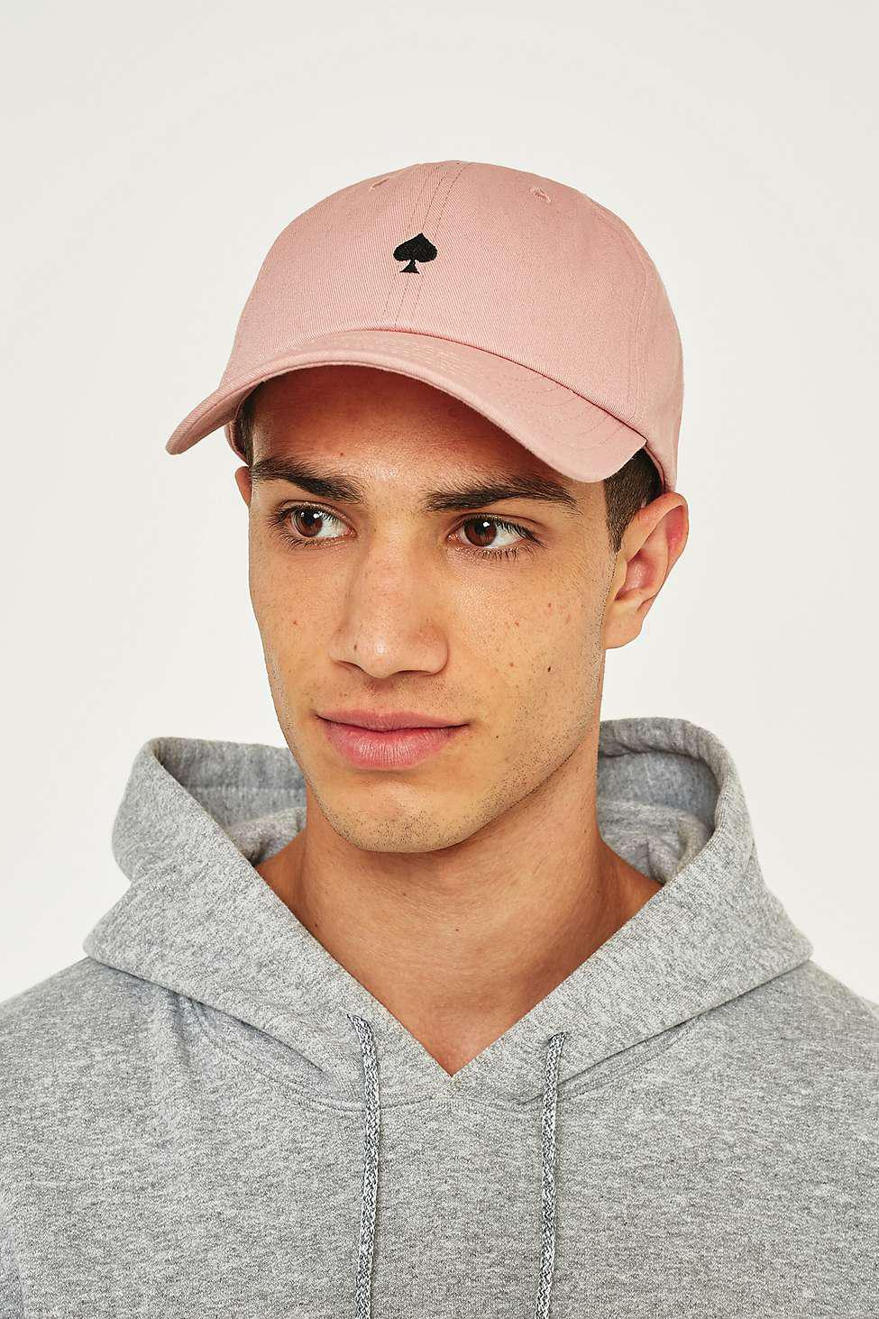 c273035ad09 Urban Outfitters Uo Dusty Pink Spade Embroidery Cap - Mens All in ...