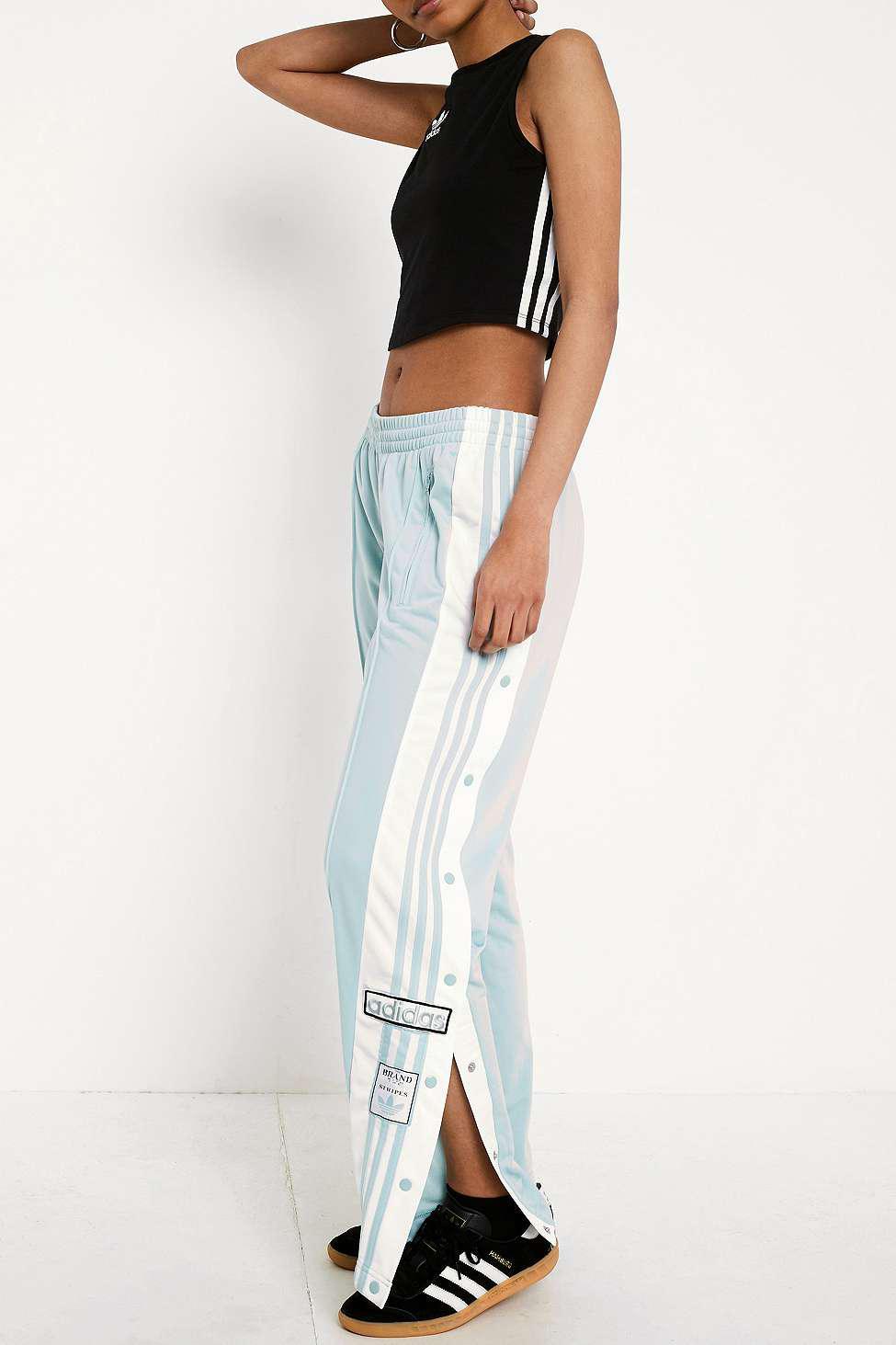 5db0089e73a1 adidas Originals Adibreak Mint 3-stripe Black Taped Popper Track ...