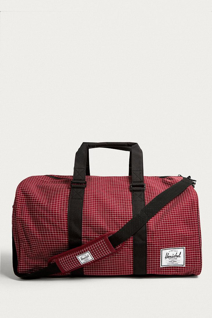 Herschel Supply Co. Novel Wine Grid Weekender Holdall Gym Bag in Red ... ec986607b433e
