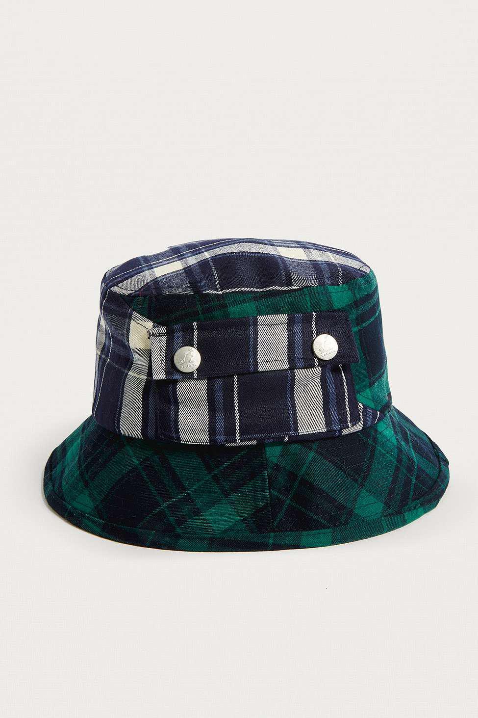 5e8178d84f5c49 Kangol Plaid On Plaid Bucket Hat - Womens M in Green - Lyst