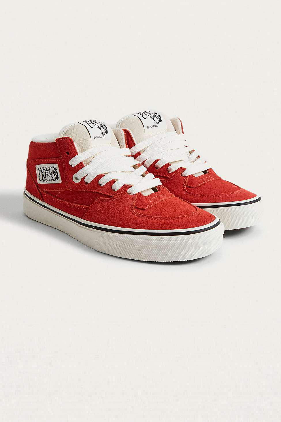 d3e7bcfc21fe Vans Half Cab Hibiscus Trainers - Womens Uk 4 in Red - Lyst
