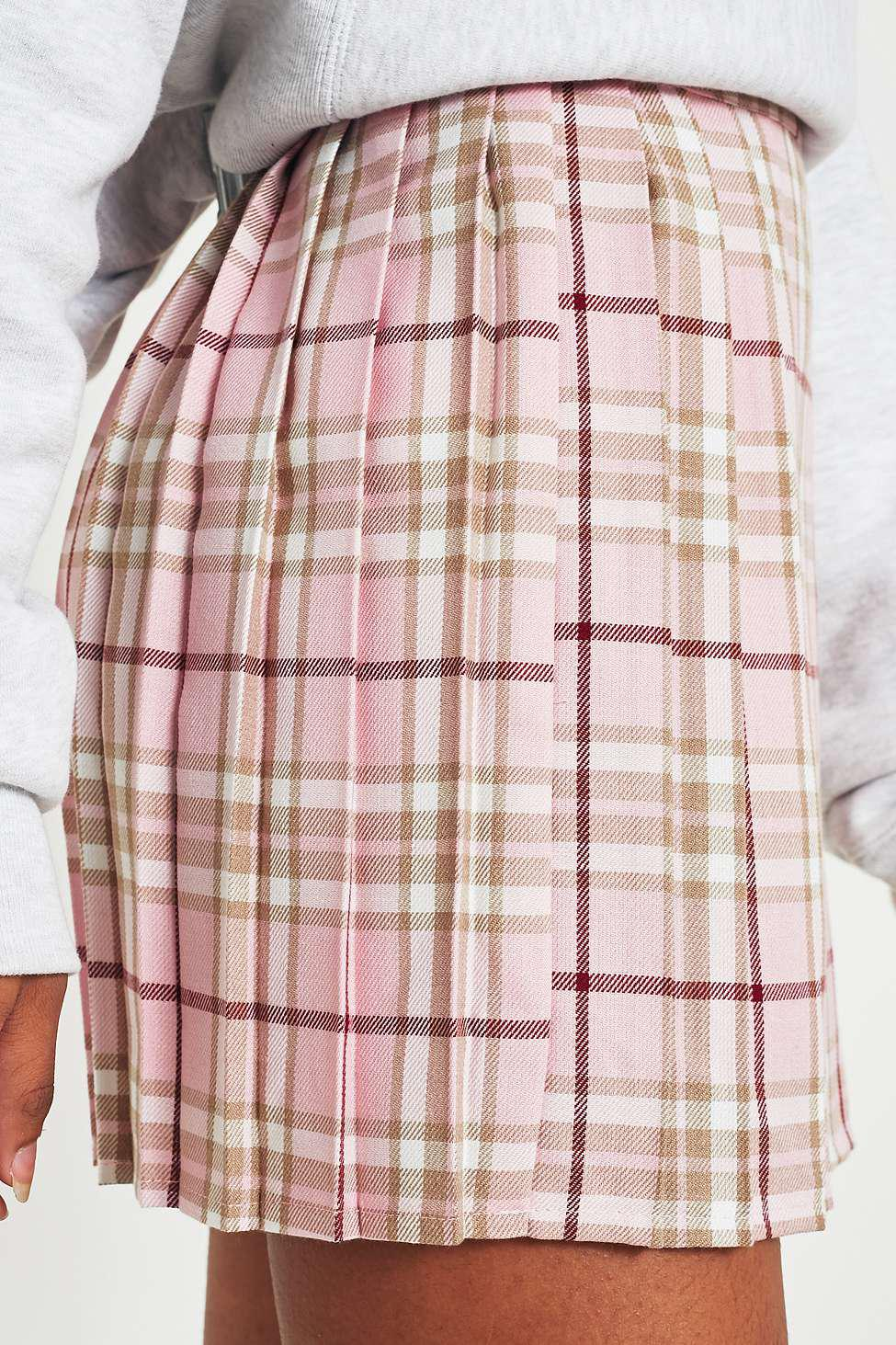 44edfb3ba Urban Renewal Vintage Re-made Pink Tartan Plaid Skirt - Womens L in ...