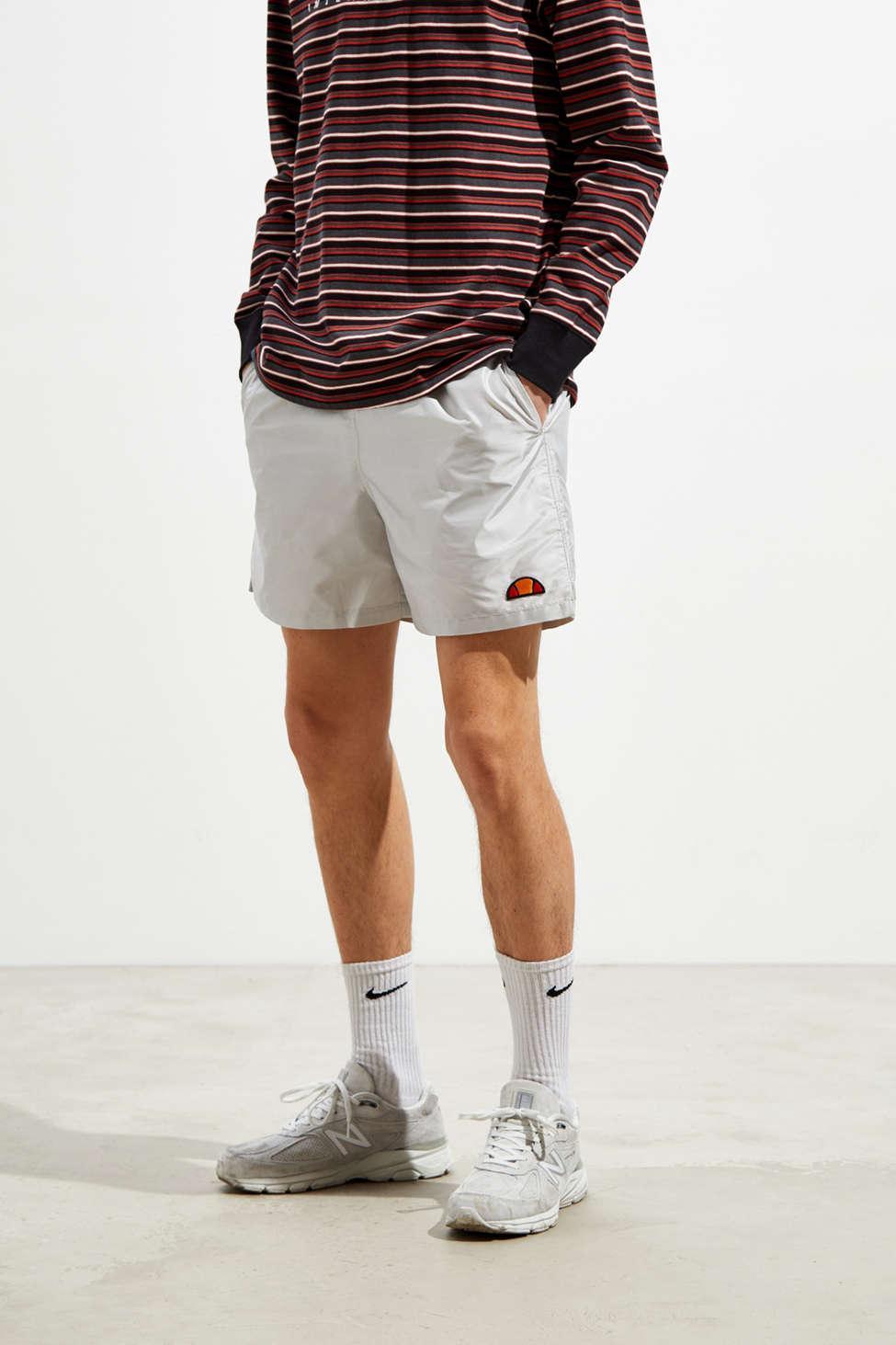 Ellesse Uo Exclusive Iridescent Tennis Short in Metallic for