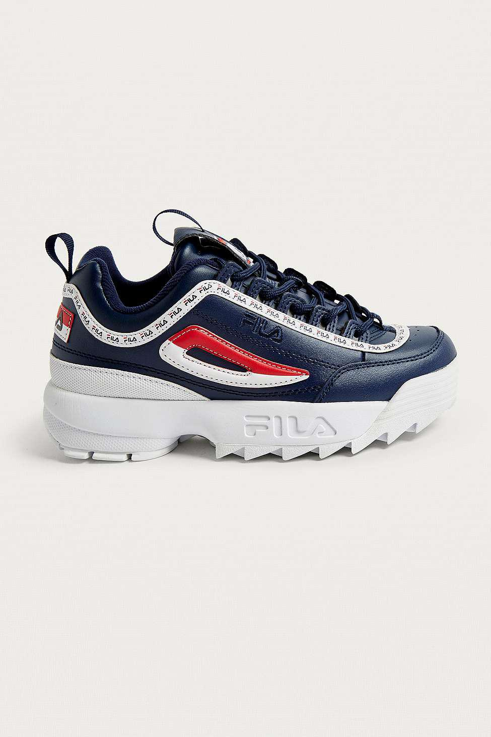 99a25016de Fila Disruptor Ii Premium Navy Trainers - Womens Uk 3 in Blue - Lyst