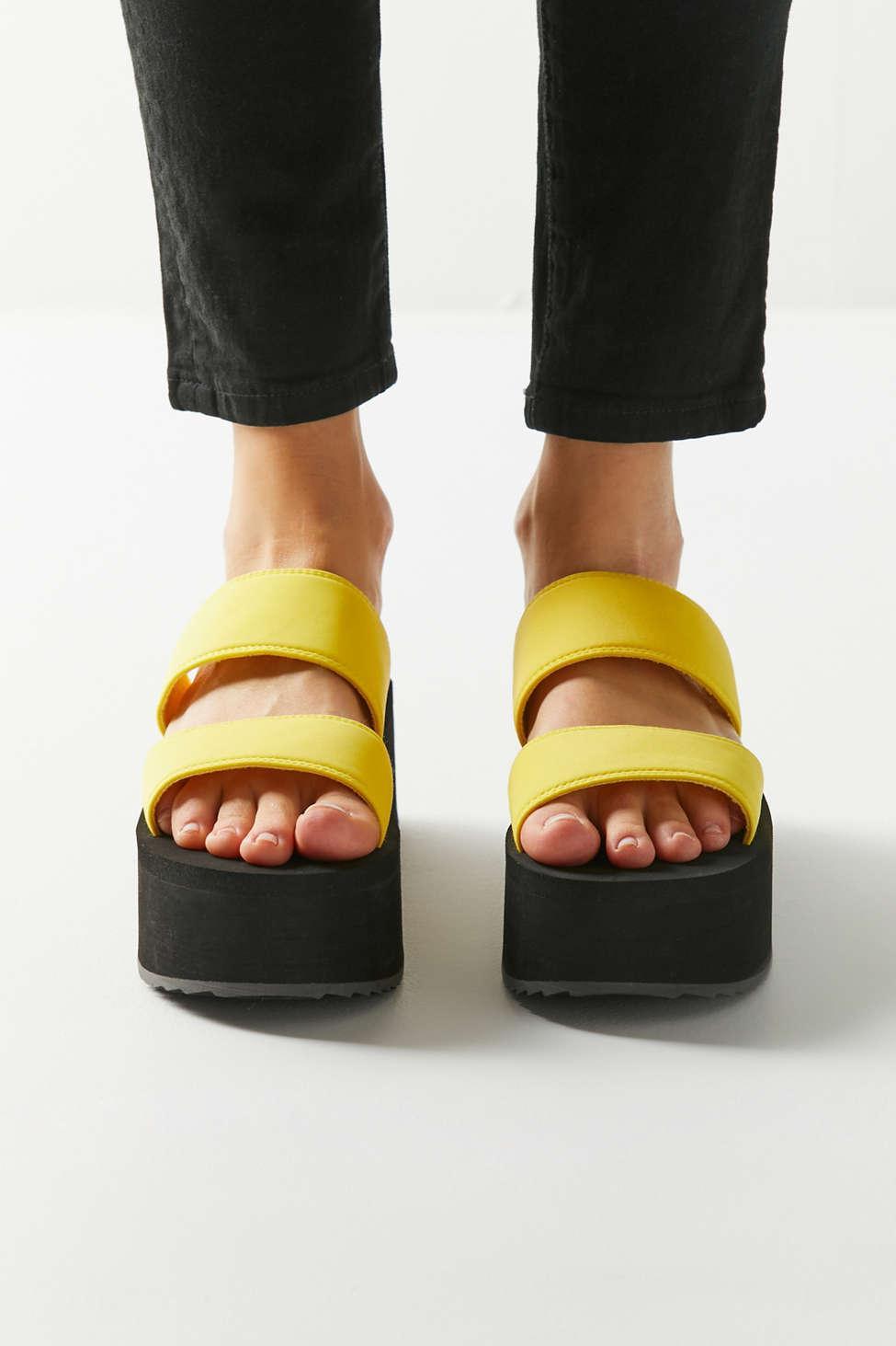 1391e1bef19 Urban Outfitters - Multicolor Uo Ava Neoprene Platform Sandal - Lyst. View  fullscreen