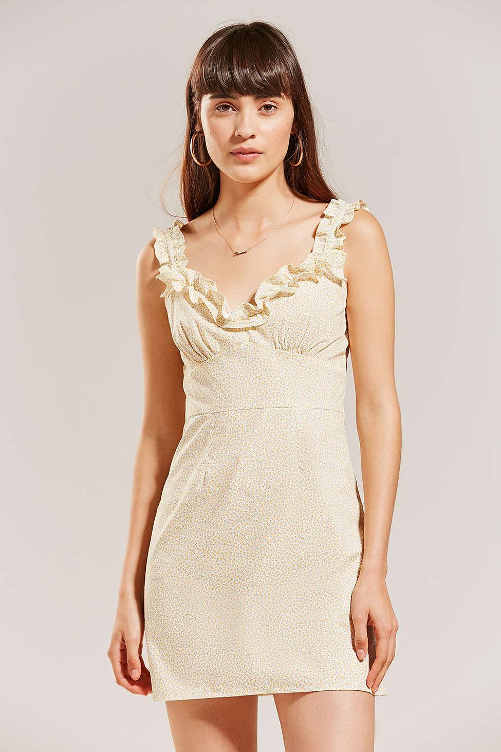 6a0d8990715c Lyst - Lykke Wullf Dolores Ruffle Mini Dress in Yellow