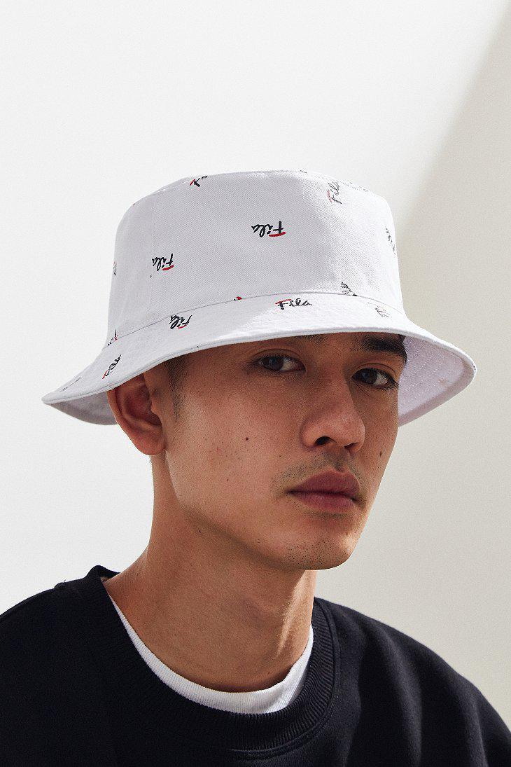 Fila Fila Reversible Bucket Hat in White for Men - Lyst 2bb374f5de7f