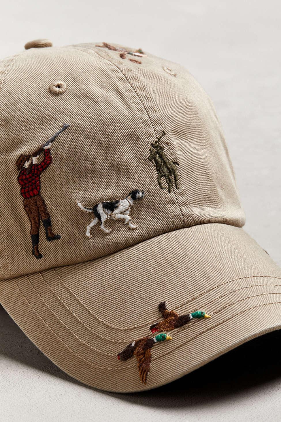 Polo Ralph Lauren - Brown Embroidered Classic Sport Baseball Hat for Men -  Lyst. View fullscreen 818ebea86f64