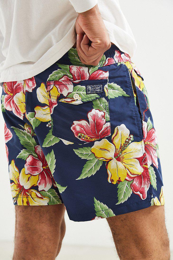 677255dce8 Ralph Lauren Polo Ralph Lauren Hibiscus Floral Traveler Short for ...
