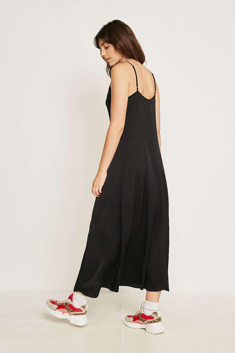 9e85c4f43c9 Urban Outfitters Uo Demi Button-through Midi Slip Dress - Womens S ...