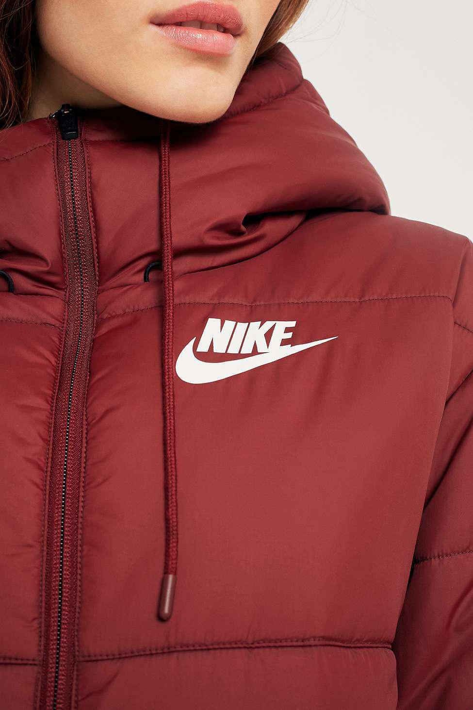 fc57a5a7e014 Nike Sportswear Advance 15 Red Puffer Coat - Womens S in Red - Lyst