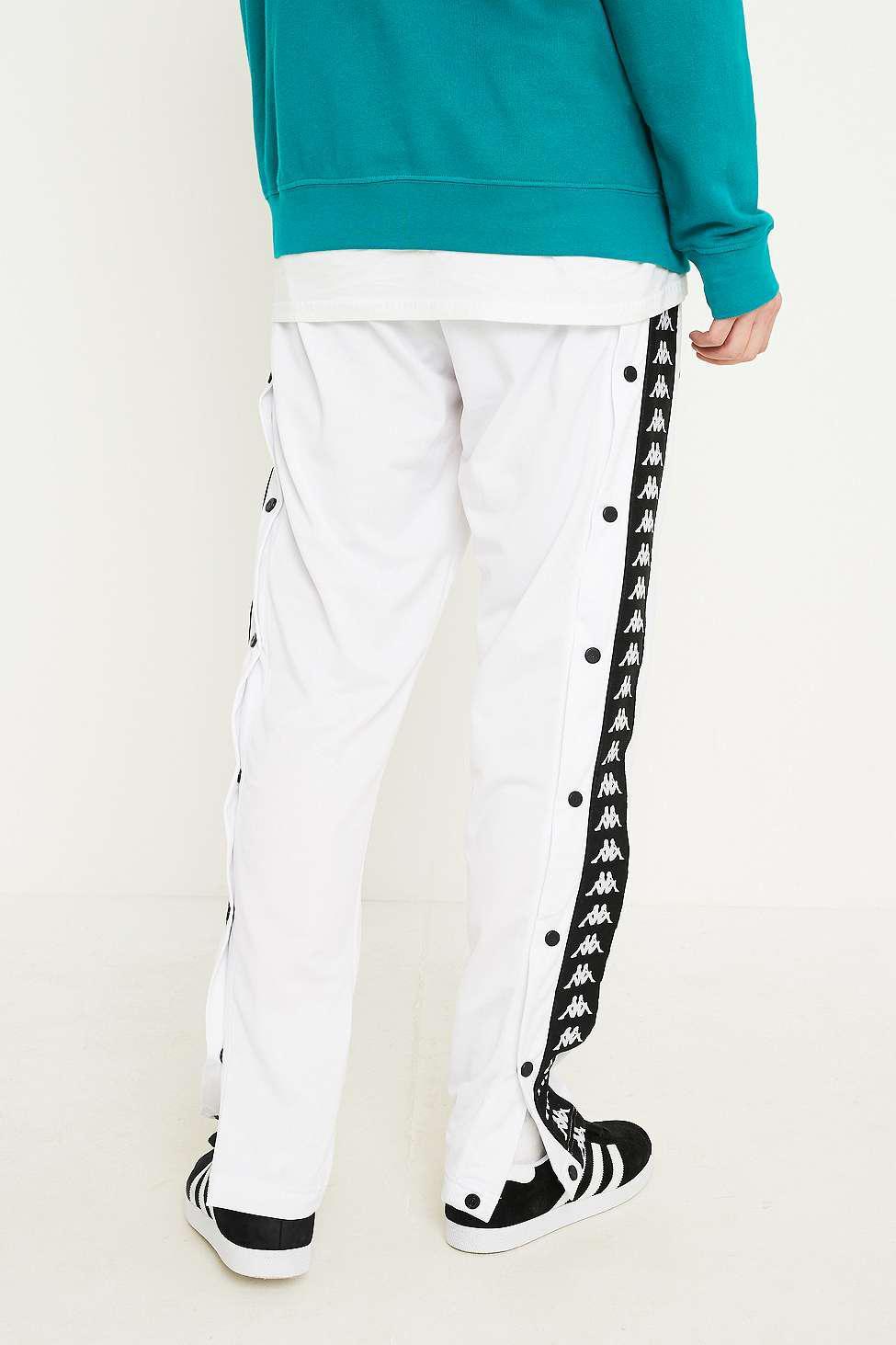 a011fb5f5e76 Kappa Slim White Popper Track Pants - Mens L in White for Men - Lyst
