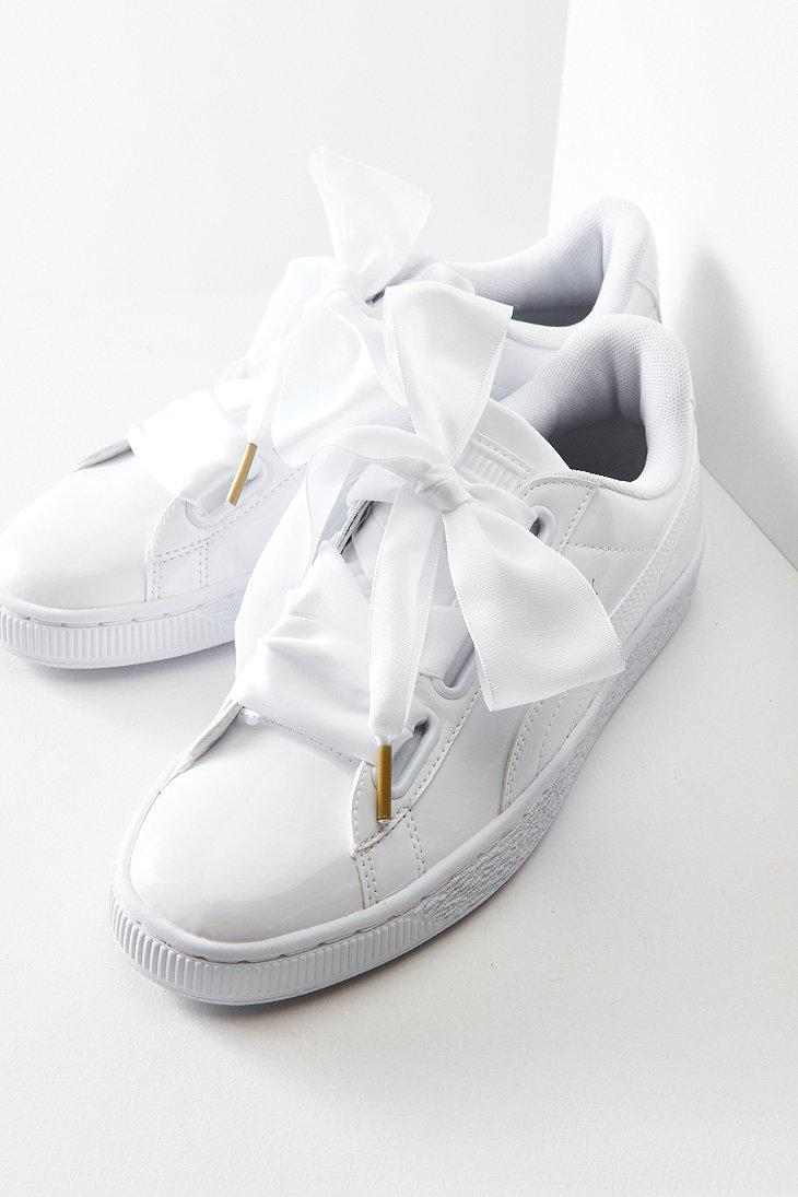 puma basket heart leather