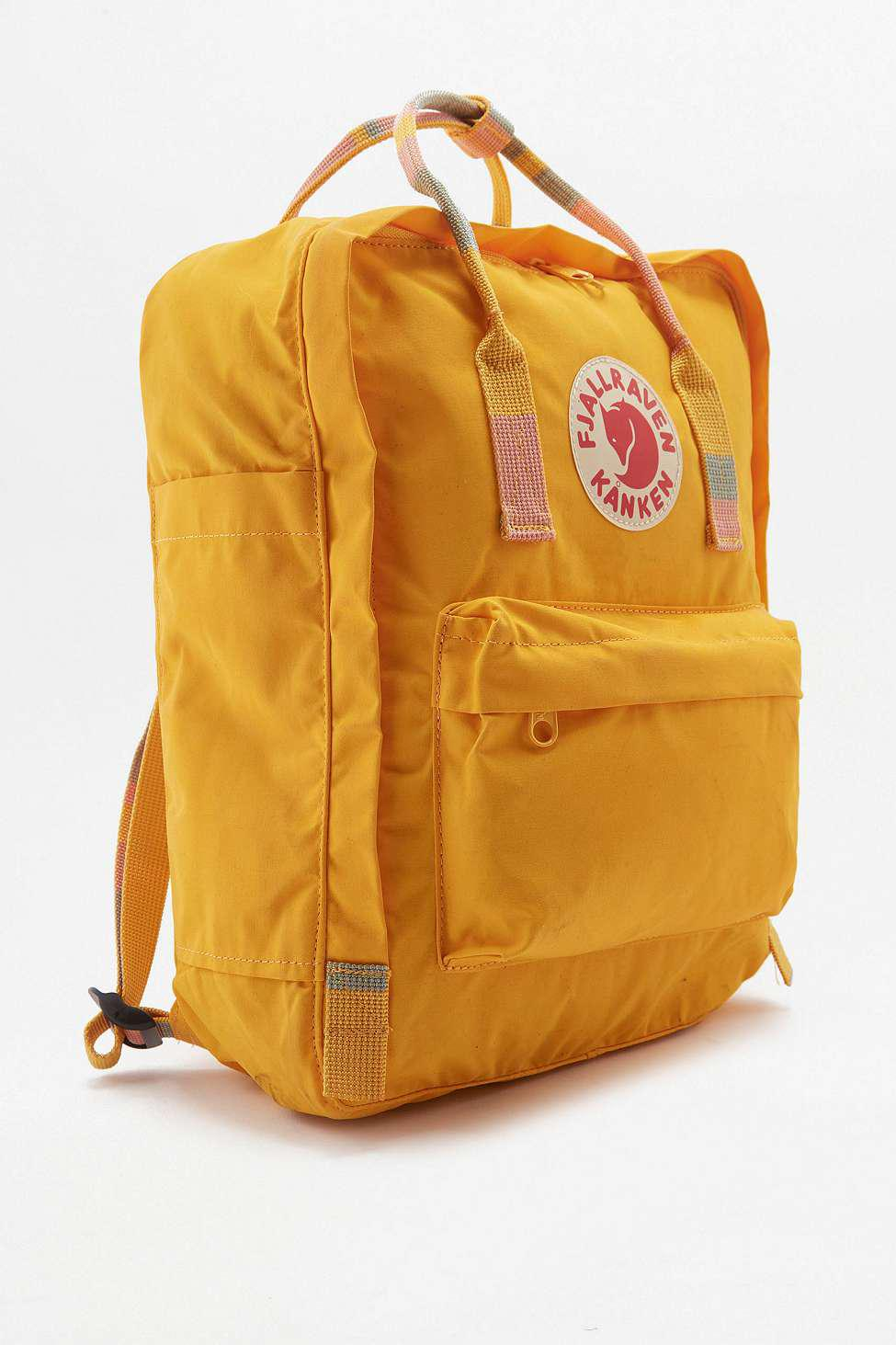 a303d2c38ac0 Fjallraven Kanken Warm Yellow Stripe Handle Backpack - Womens All in ...
