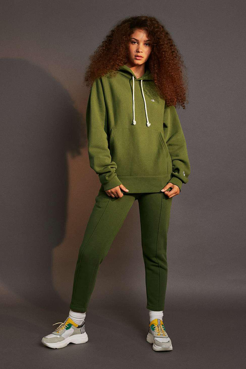 138c5065cc06 Champion X Uo Khaki Pullover Hoodie - Womens Xs in Green - Lyst