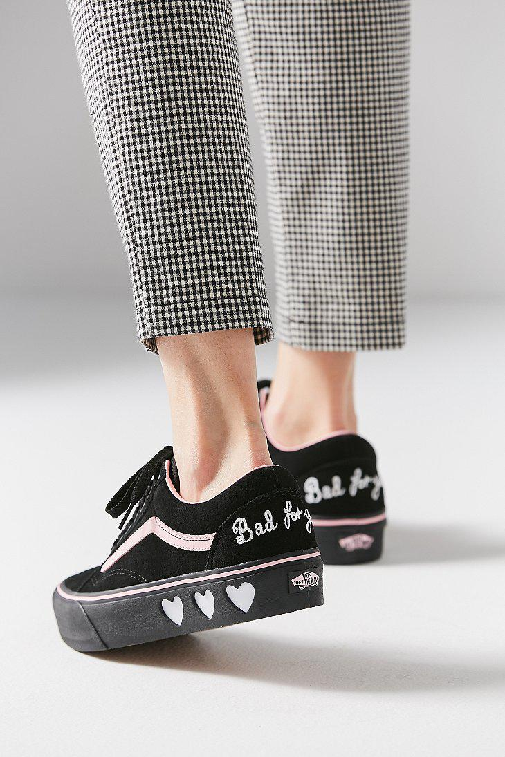 Lyst - Vans Vans X Lazy Oaf Old Skool Platform Sneaker in Black d37bb581c