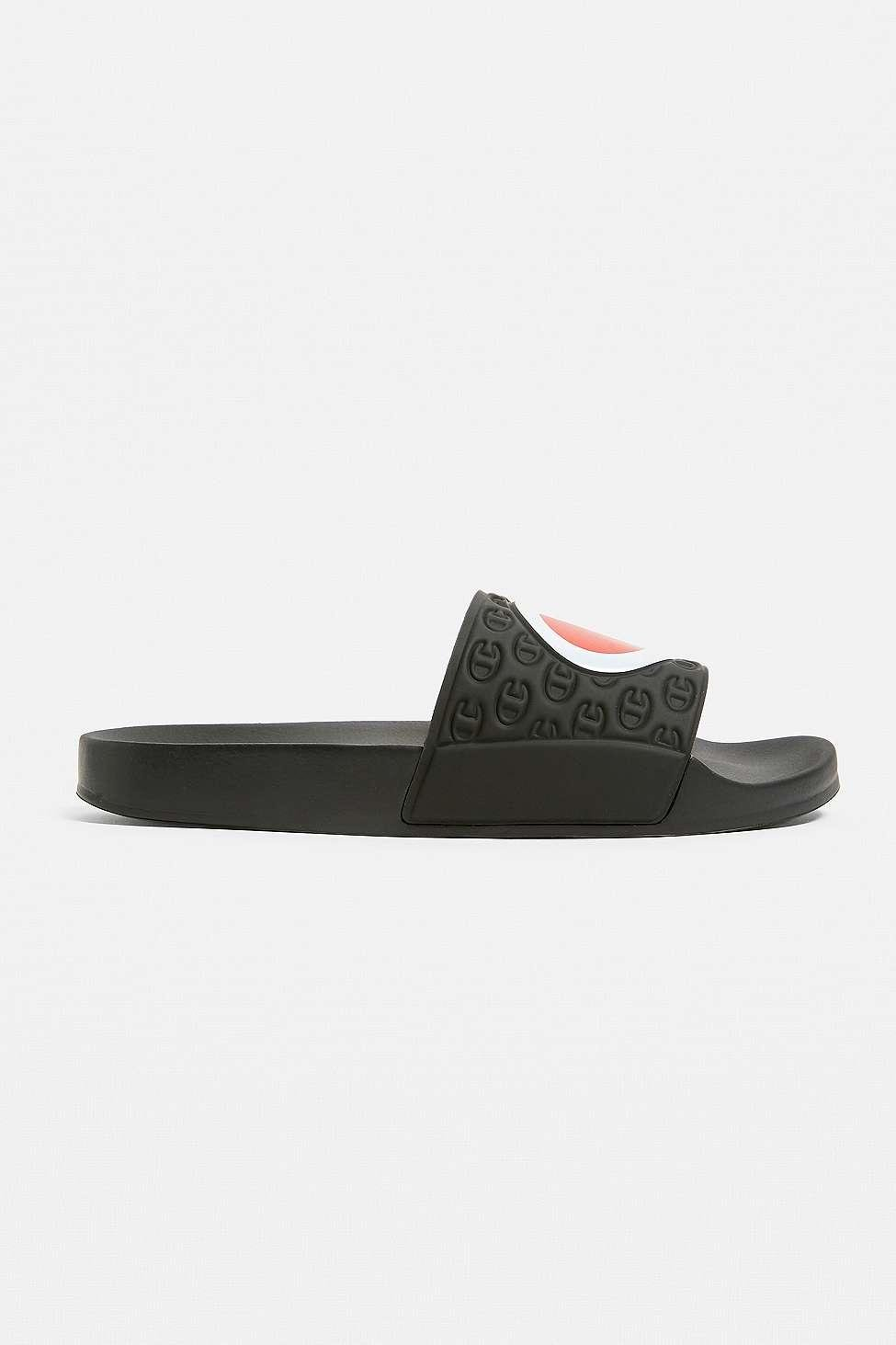 7dbdeb4a44586 Champion - Multi-lido Black Pool Sliders - Mens S for Men - Lyst. View  fullscreen