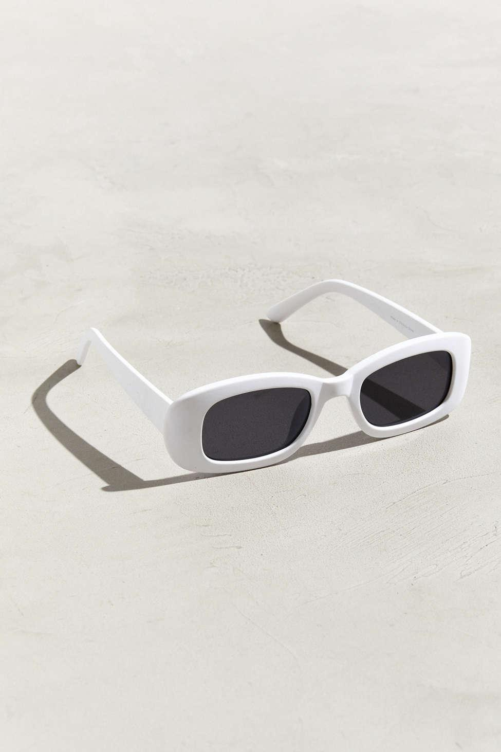 fb68a61717 Lyst - Urban Outfitters Narrow Plastic Round Sunglasses in White for Men