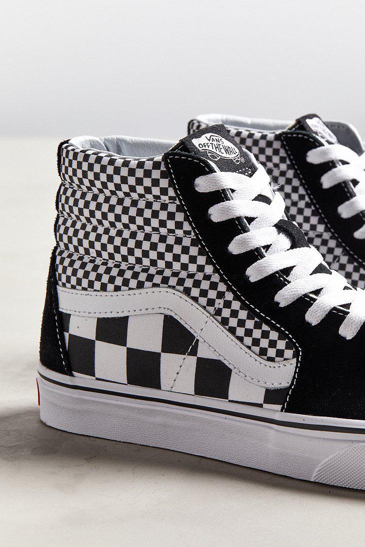 Lyst - Vans Vans Sk8-hi Mixed Checkerboard Sneaker in Black for Men 388b8f0df