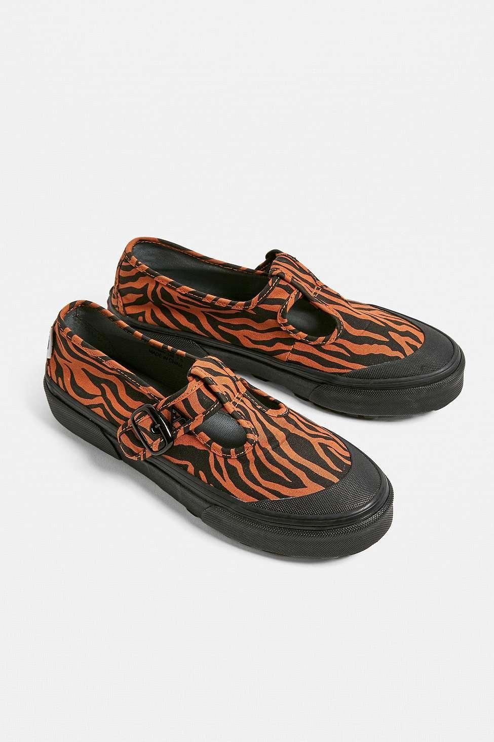 d7d17506df4 Vans - Black X Ashley Williams Ua 93 Tiger Print Mary Jane Trainers - Lyst.  View fullscreen