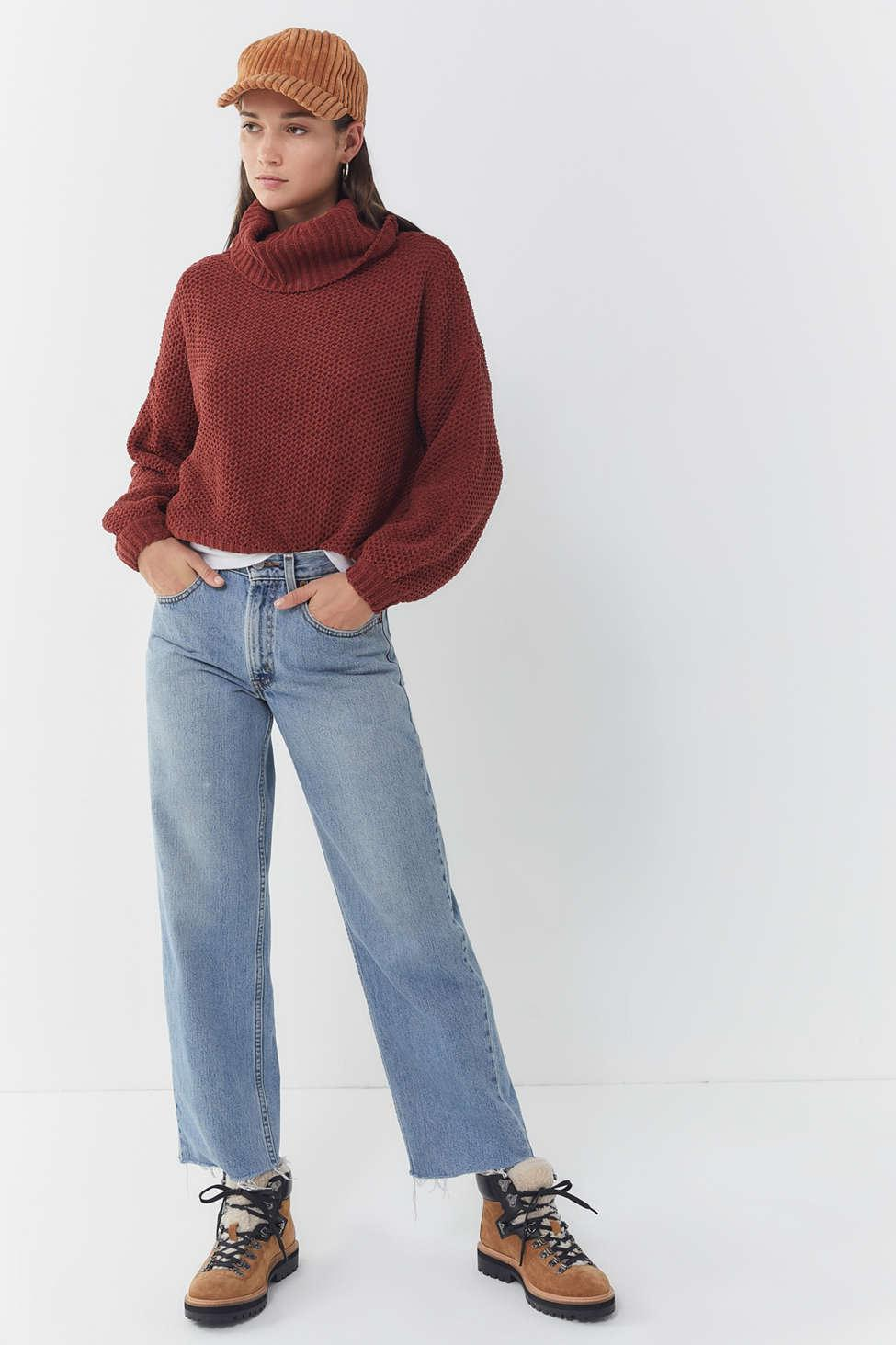 bd3c99f3a Lyst - Urban Outfitters Sitka Plush Turtleneck Sweater in Brown