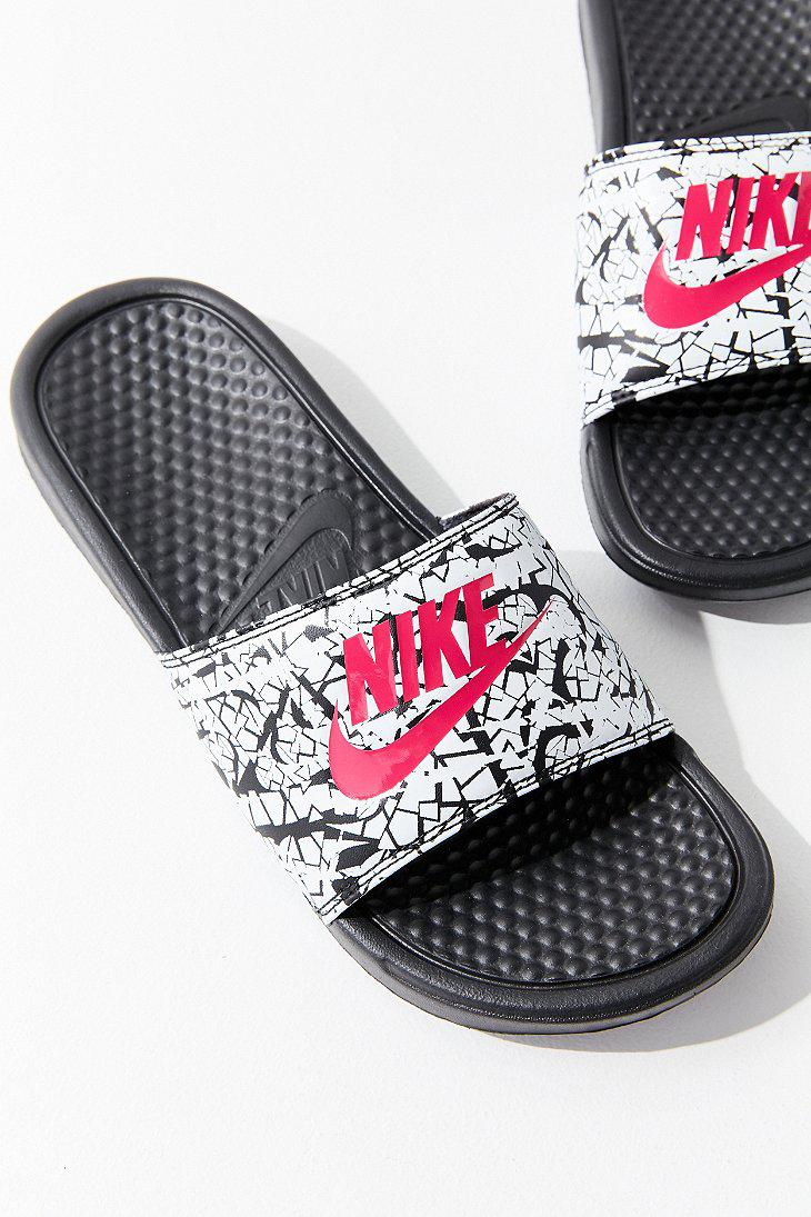 Nike. Women's White Nike Benassi Jdi Crackle Slide