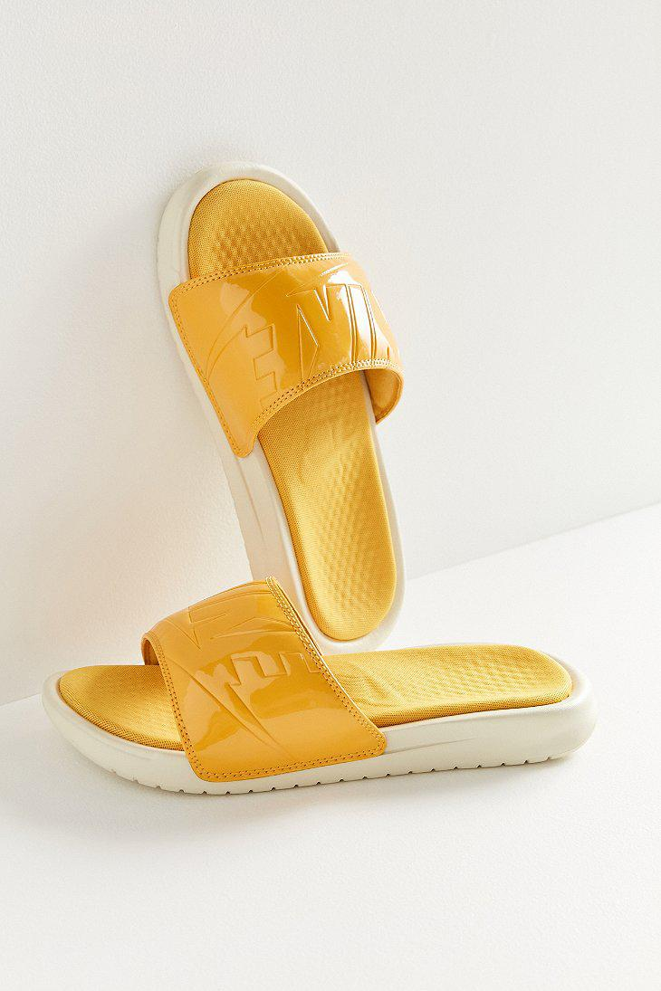 2c9795831877 Lyst - Nike Nike Benassi Solarsoft Jdi Slide in Yellow