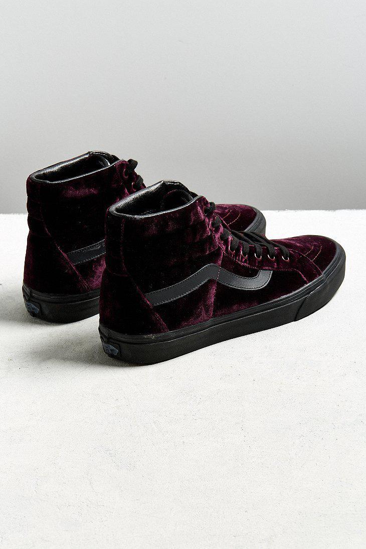 c794656807c099 Lyst - Vans Vans Sk8-hi Reissue Burgundy Velvet Sneaker in Black for Men